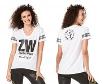<img class='new_mark_img1' src='https://img.shop-pro.jp/img/new/icons5.gif' style='border:none;display:inline;margin:0px;padding:0px;width:auto;' />【ZUMBA】ズンバ Zumba For All By All Top 2019夏2 オールトップ/ホワイト