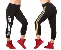 <img class='new_mark_img1' src='https://img.shop-pro.jp/img/new/icons5.gif' style='border:none;display:inline;margin:0px;padding:0px;width:auto;' />【ZUMBA】ズンバ Zumba Varsity Crop Leggings 2019夏2 クラップレギンス/ブラック
