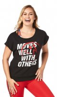 【ZUMBA】ズンバ Moves Well With Others Boxy Tank 2019秋2 ボクシータンク/ブラック