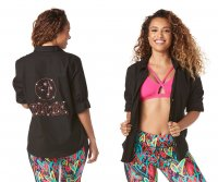 【ZUMBA】ズンバ Button Down with Swarovski Crystals 2019 ボタンシャツスワロフスキー