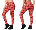 【ZUMBA】ズンバ Zumba Dance Tribe Perfect Ankle Leggings 2019冬1 パーフェクトアンクルレギンス/オレンジ