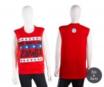 【ZUMBA】ズンバ 男女兼用 Red White And Zumba Tee 2020夏2 レッドホワイトタンク/レッド