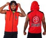 【ZUMBA】ズンバ Zumba Wear Men's Sleeveless Hoodie 2020夏2 メンズ スリーブレスフーディ/レッド