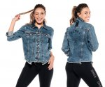 【ZUMBA】ズンバ Zumba Peace Denim Jacket With Swarovski Crystals 2020秋1 ピースデニムジャケットスワロフスキー