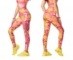 【ZUMBA】ズンバ Spread Zumba Love High Waisted Laced Up Leggings 2020秋2 レースアップレギンス/ルビー