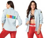 【ZUMBA】ズンバ  Zumba Made With Zumba Love Button Up ズンバラブボタンシャツ/デニム即納