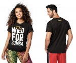 【ZUMBA】ズンバ 男女兼用 Wild For Zumba Tee 2020冬1 ワイルドフォーズンバTシャツ/ブラック