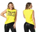 【ZUMBA】ズンバ Find Your Wild Tank 2020冬1 ワイルドタンク/イエロー