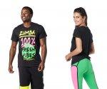 【ZUMBA】ズンバ 男女兼用 Zumba Fresh Vibes Tee 2021春3 フレッシュバイブTシャツ/ブラック