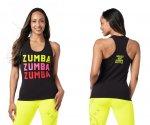 【ZUMBA】ズンバ Zumba Smile Racerback 2021夏1  マスイルレーサーバック/ブラック