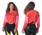 【ZUMBA】ズンバ Zumba Color Blocked Sweatshirt 2021秋1 カラーブロックスウェットシャツ/レッド