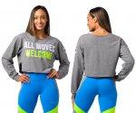 【ZUMBA】ズンバ All Moves Welcome Cropped Sweatshirt 2021夏3 クロップスウェットシャツ/グレー
