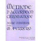 フェレロ,メダール:教則本《クロマチック・アコーディオン・メソード レベル3 上級》
