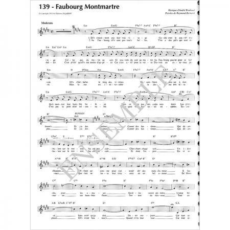 《フランスシャンソンの1世紀 1929 - 1939》 楽譜 - アンサンブル・ミュージック