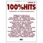 《100% ヒット曲集 Volume.3》 シャンソン楽譜