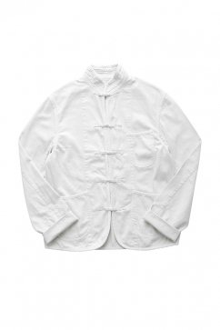 Porter Classic ★★★ - SUMMER WHITE CHINESE JACKET - WHITE
