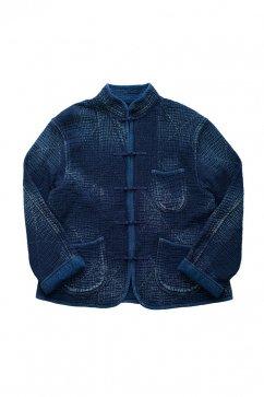 Porter Classic - SASHIKO CHINESE JACKET - BLUE