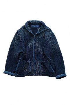 Porter Classic ★★★ - SASHIKO SHAWL COLLAR JACKET - BLUE -EXCLUSIVE