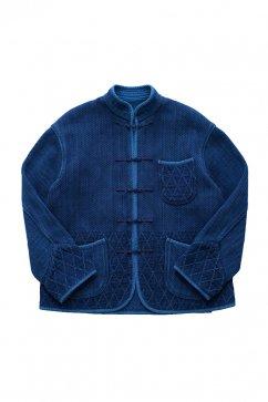 Porter Classic - KENDO CHINESE JACKET - NEW TYPE - INDIGO BLUE