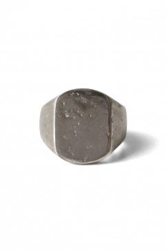 OLD JOE - NADALL SQUARE SIGNET RING - HAMMERD - SILVER