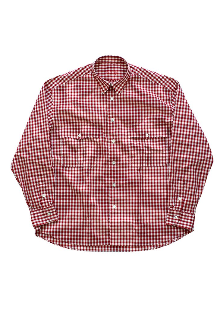 ROLL UP GINGHAM CHECK SHIRT – RED|32,400円(税込)