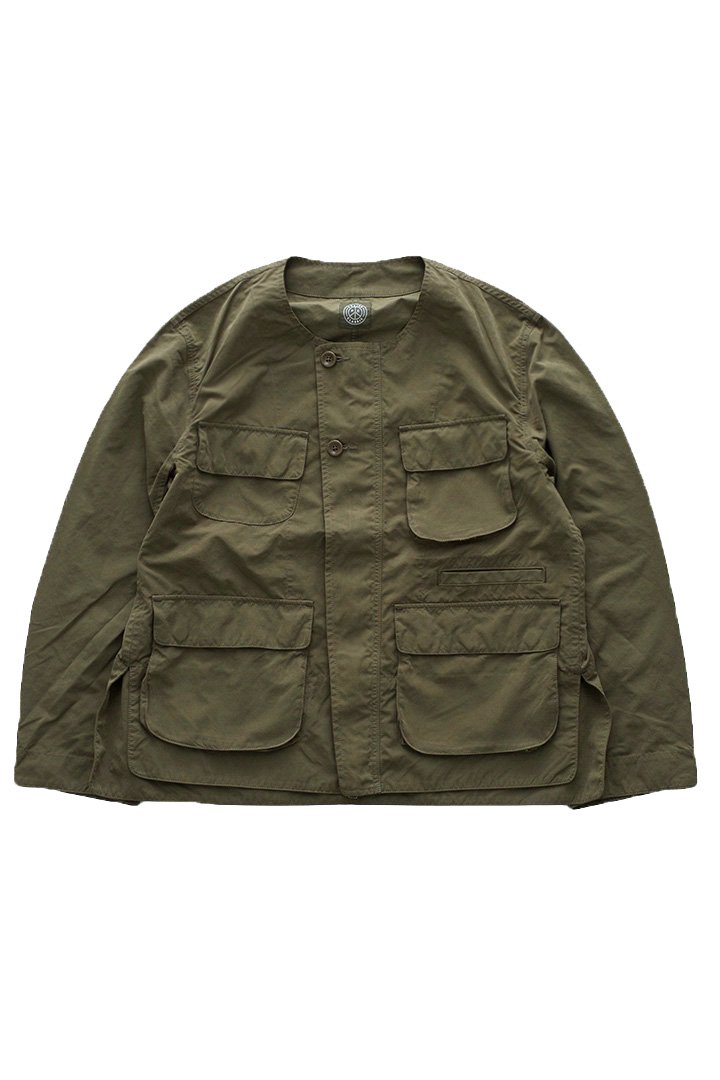 WEATHER NO COLLAR JACKET – OLIVE|37,800円(税込)