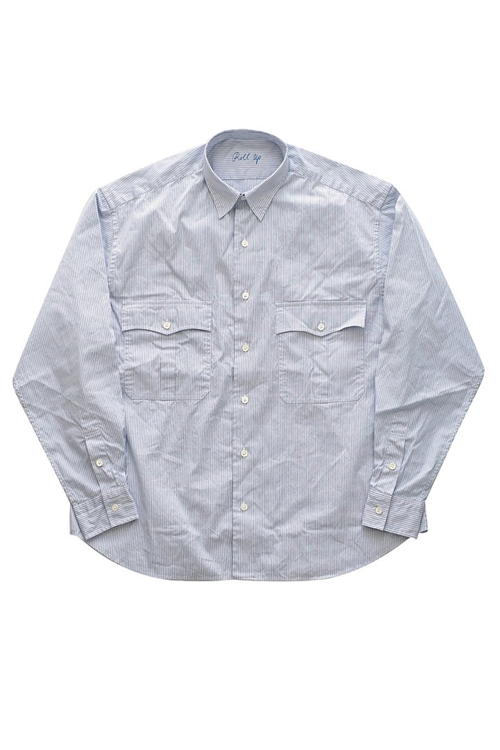 ROLL UP STRIPE SHIRT – BLUE|32,400円(税込)