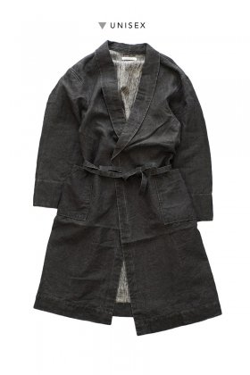 OLD JOE - SHAWL COLLAR WRAPPED CHORE COAT - BLACK CANVAS