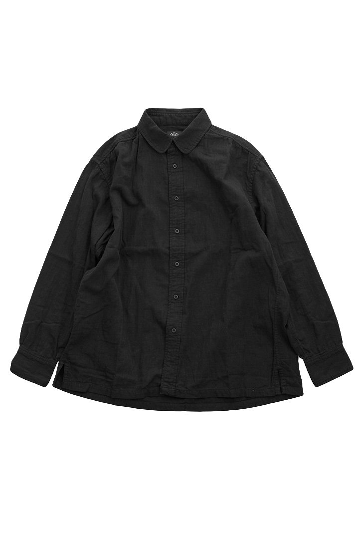 DOUBLE GAUZE SHIRT – BLACK|30,240円(税込)