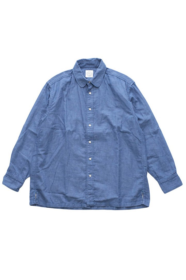 DOUBLE GAUZE SHIRT – BLUE|30,240円(税込)