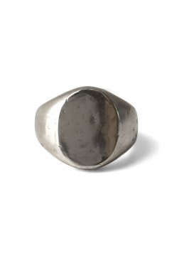 OLD JOE - STATE HOUSE OVAL SIGNET RING - HAMMERD - SILVER