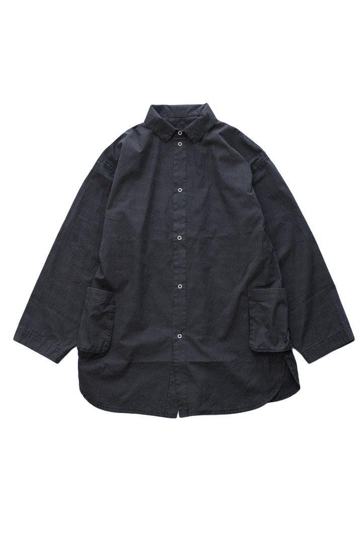 DOT SHIRT JACKET – BLACK|48,600円(税込)