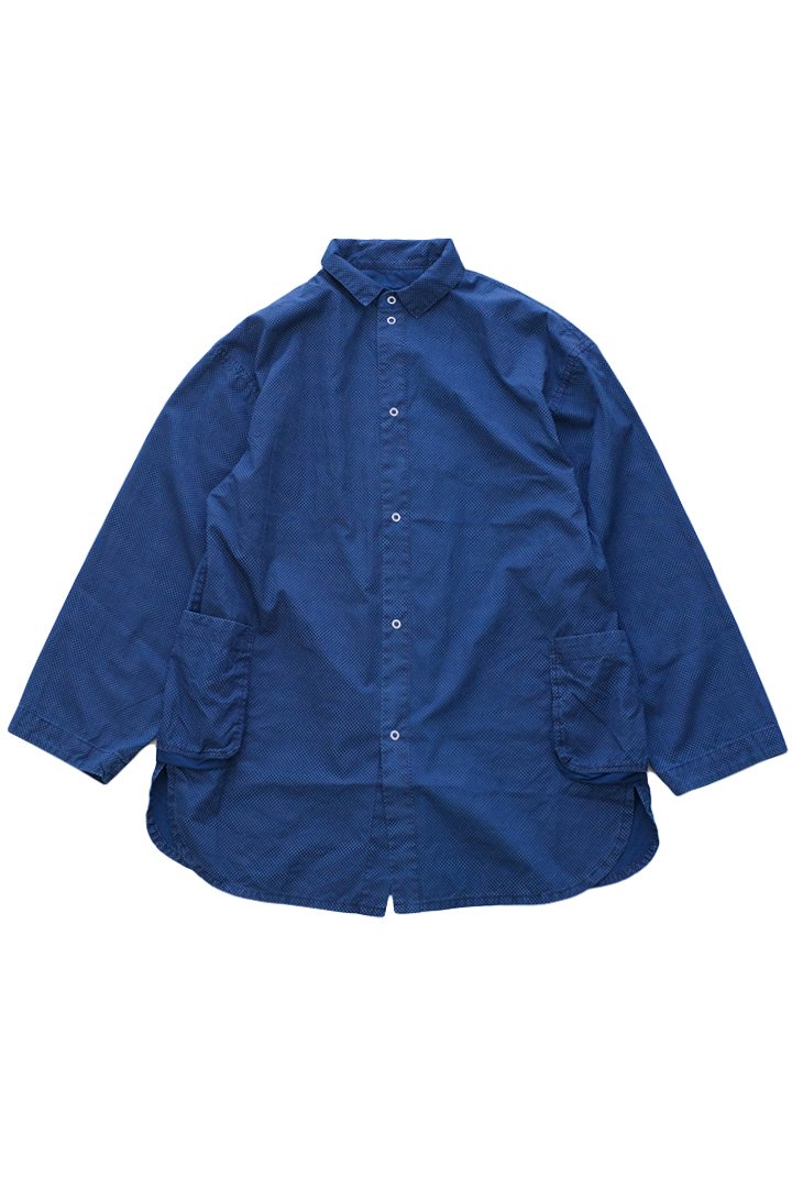 DOT SHIRT JACKET – BLUE|48,600円(税込)