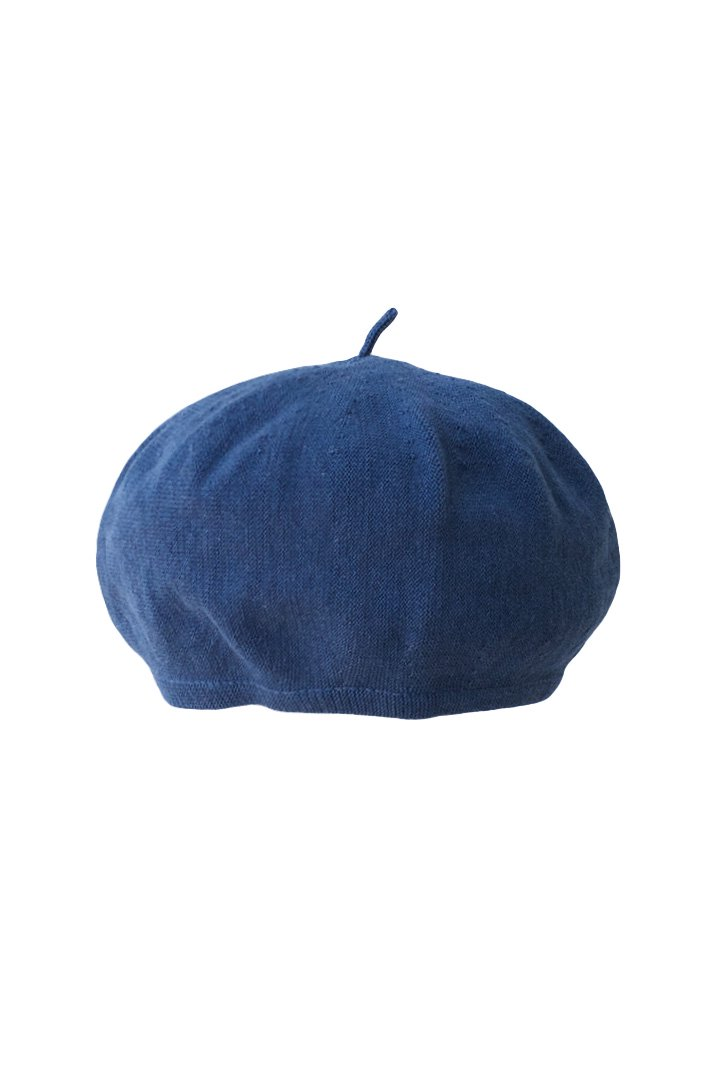 HAND WORK KNIT BERET – BLUE|10,800円(税込)