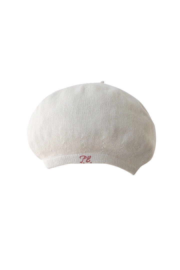 HAND WORK KNIT BERET – WHITE|10,800円(税込)