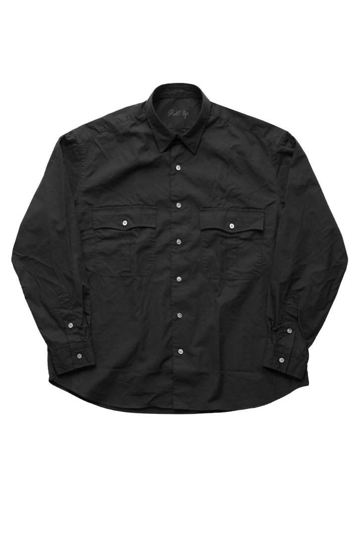 ROLL UP SHIRT – BLACK|42,120円(税込)