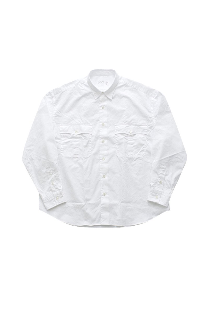 ROLL UP SHIRT – WHITE|42,120円(税込)