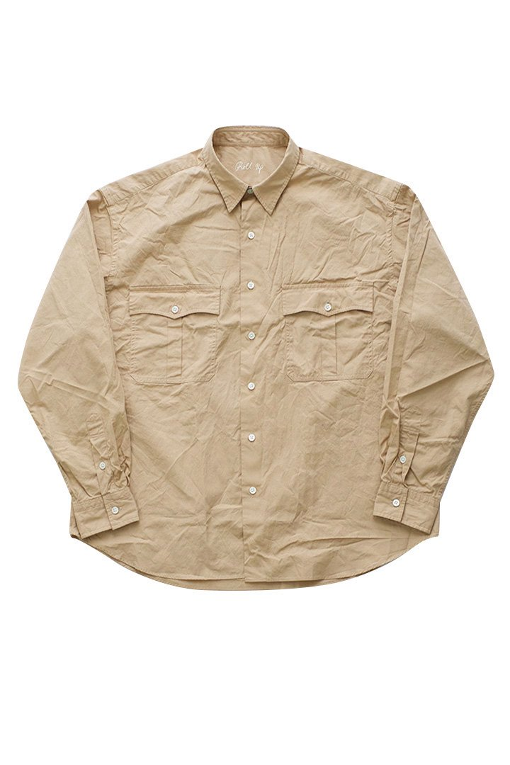 ROLL UP SHIRT – KHAKI|42,120円(税込)