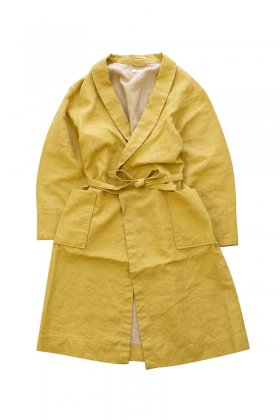 OLD JOE ★★★ - EXCLUSIVE SHAWL COLLAR WRAPPED CHORE COAT - YELLOW CANVAS