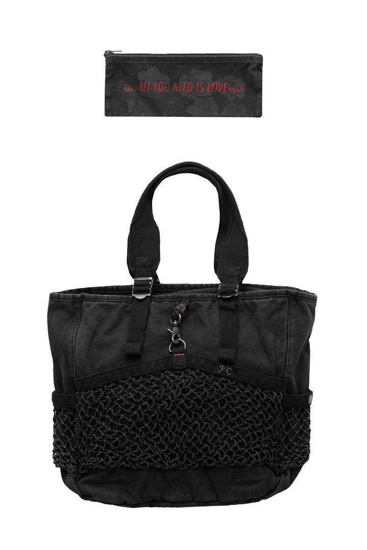 CANVAS NET TOTE BAG – BLACK|38,880円(税込)