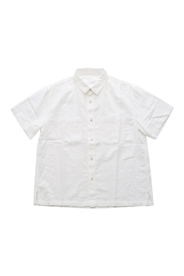 WHITE GINGHAM SHORT SLEEVE SHIRT – WHITE|29,160円(税込)