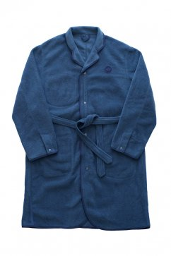 Porter Classic - FLEECE GOWN COAT - NAVY