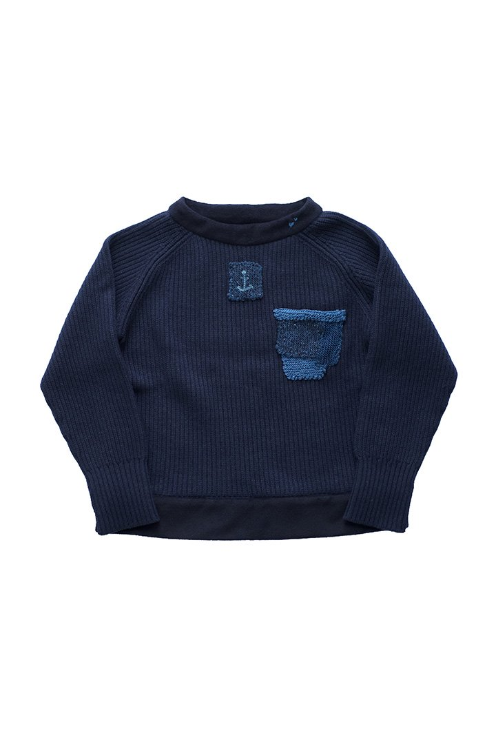 Porter Classic ★★★ - SPECIAL CUSTOM HAND WORK KNIT 3(L)- NAVY