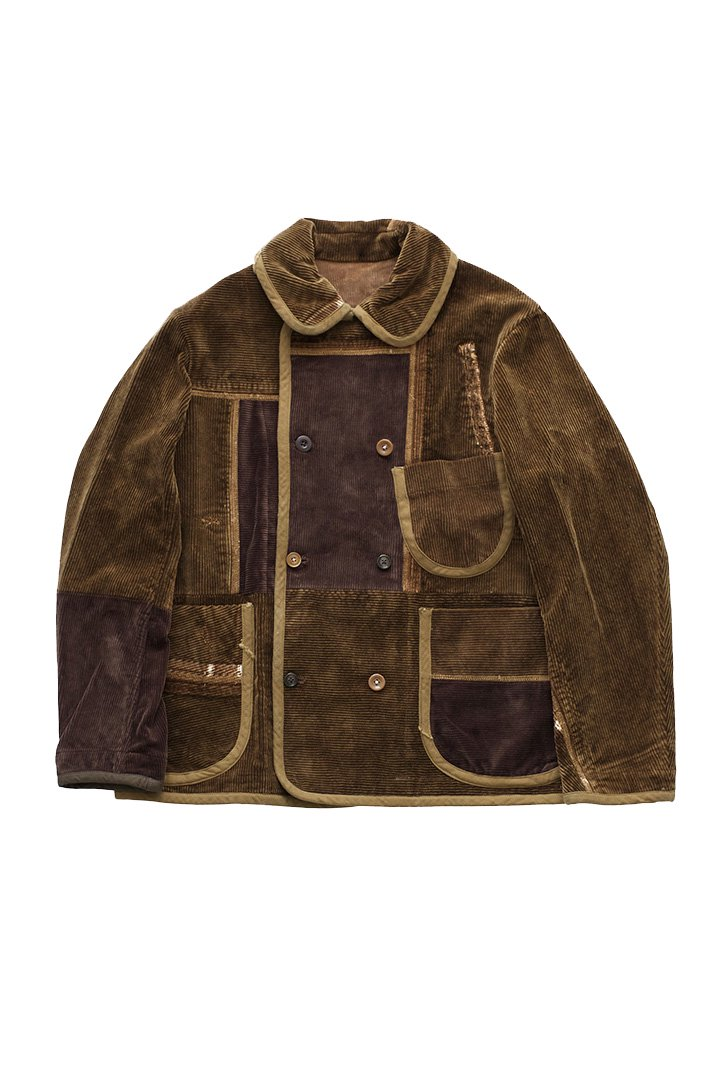 Porter Classic ★★★ - SPECIAL CUSTOM CORDUROY DOUBLE JACKET 3(1)- GOLDEN BROWN
