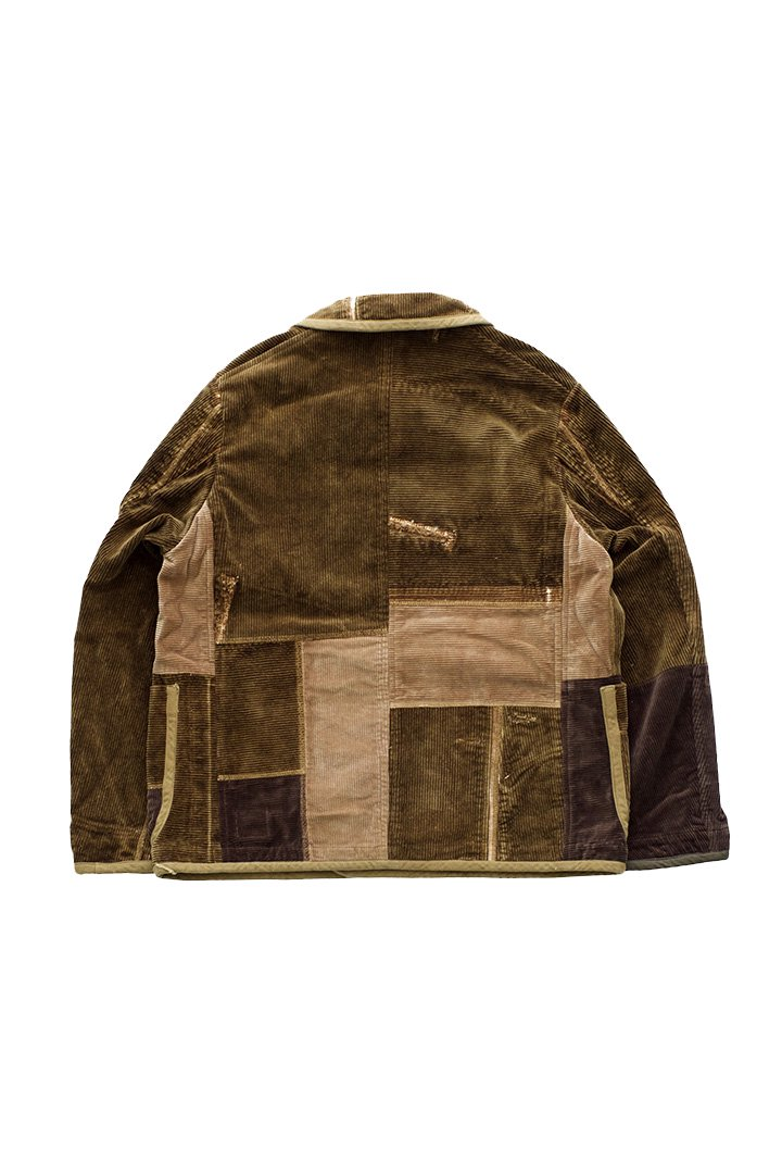Porter Classic ★★★ - SPECIAL CUSTOM CORDUROY DOUBLE JACKET 4(1)- GOLDEN BROWN