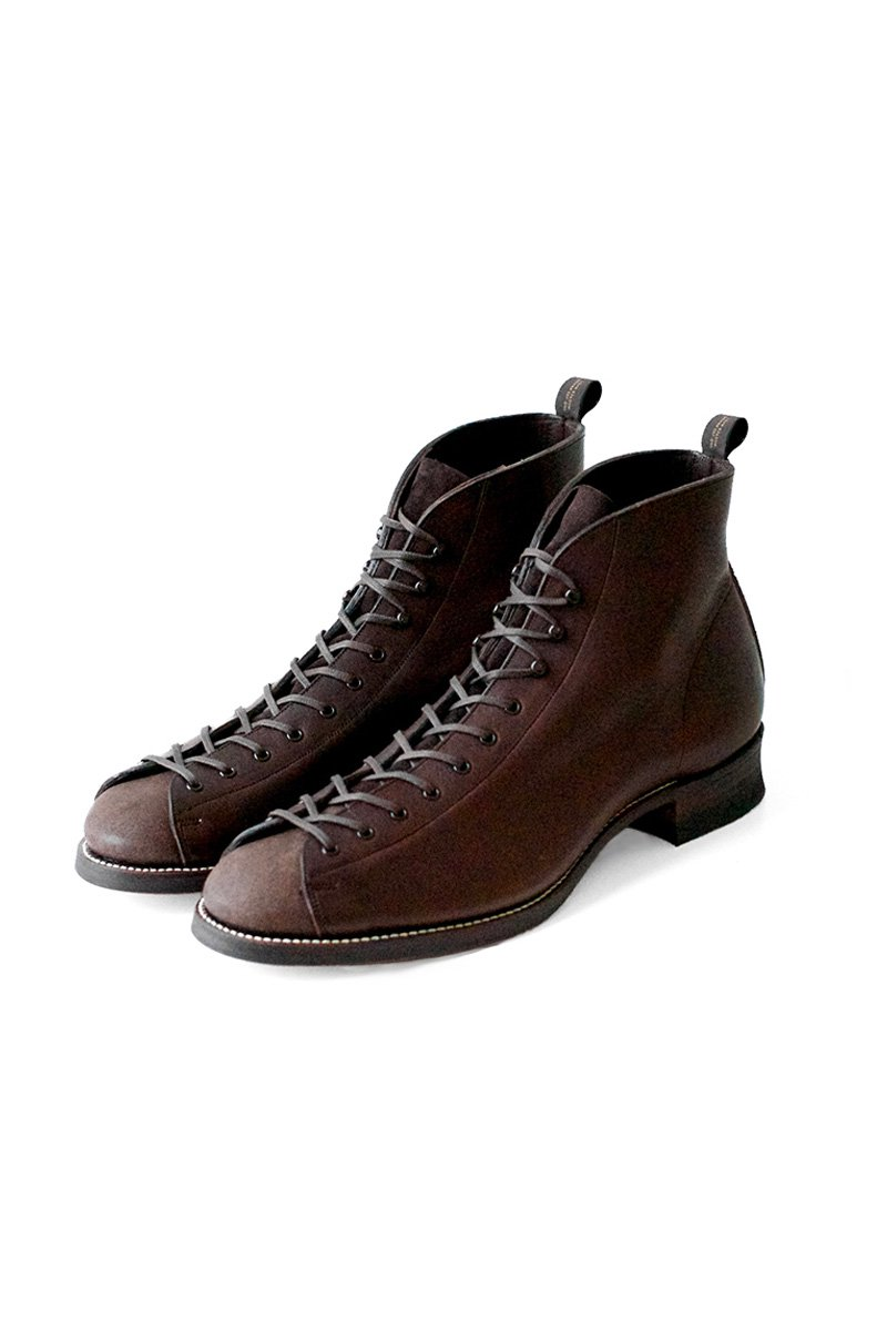 OLD JOE ★★★ - EXCLUSIVE VACHETTA LEATHER MONKEY BOOTS - WALNUT - PRICE 85,800 tax-in
