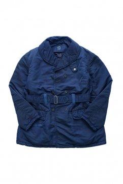 Porter Classic - SUPER NYLON SHAWL COLLAR COAT - BLUE