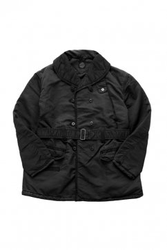 Porter Classic ★★★ - SUPER NYLON SHAWL COLLAR COAT - BLACK - EXCLUSIVE