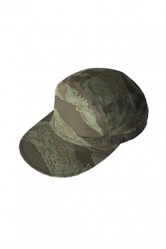 Nigel Cabourn - CYCLING CAP REVERSIBLE CAMO - OLIVE