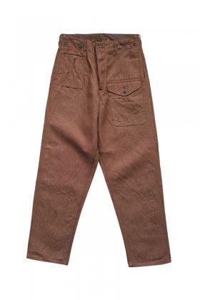 Nigel Cabourn - BATTLE DRESS PANT C/L DENIM - BROWN